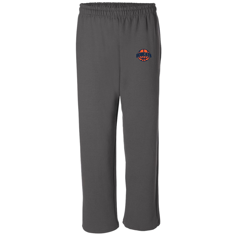 BAHS Basketball Unisex Open Bottom Sweatpants - Charcoal