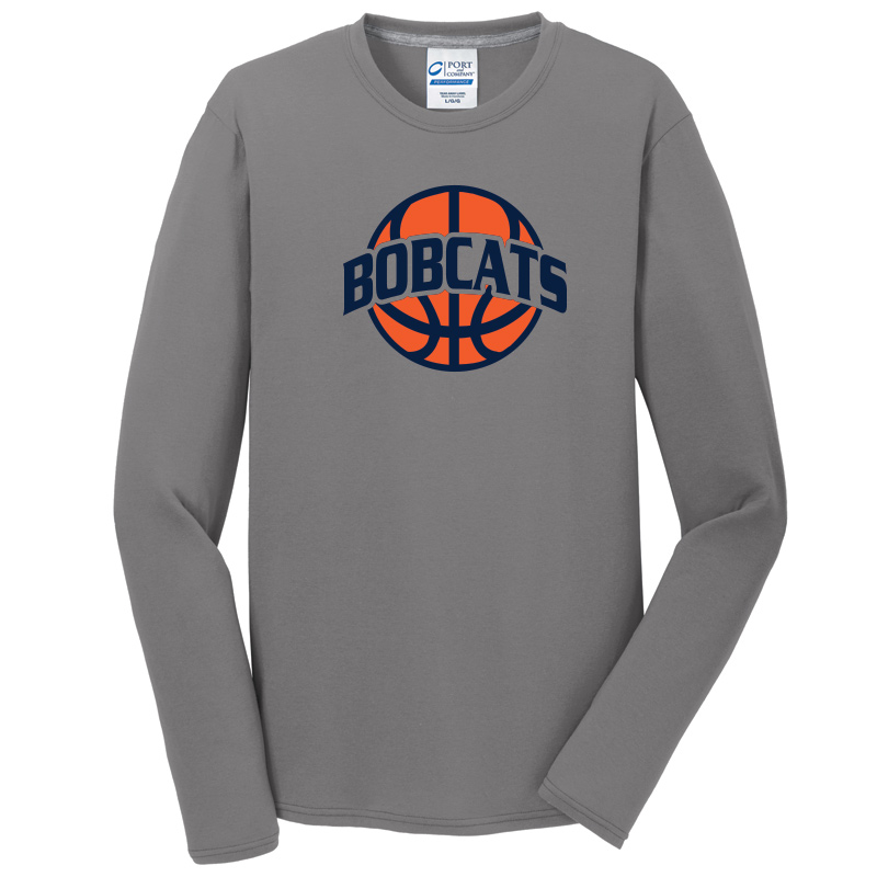 BAHS Basketball Unisex Performance Long Sleeve tee - Medium Grey