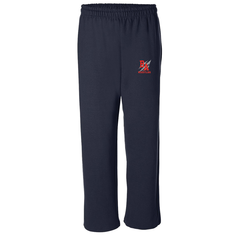 BAHS Wrestling Open Bottom Sweatpants - Navy