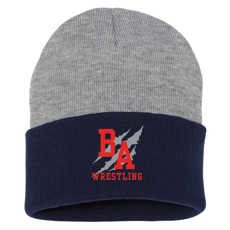 BAHS Wrestling 2-Tone Beanie - Heather/Navy