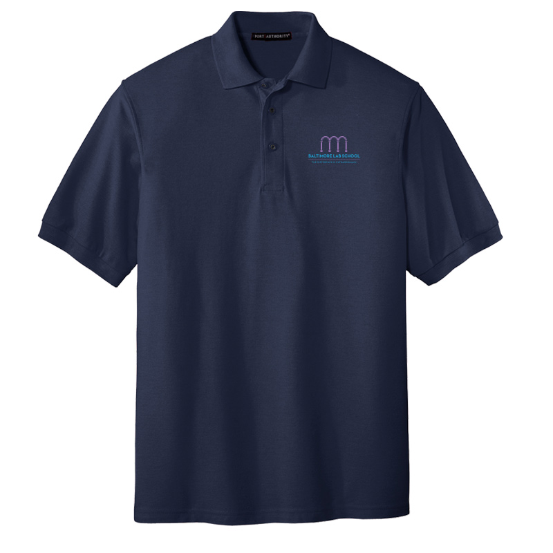 Baltimore Lab School UltraClub Cool & Dry Mesh Piqué Polo-Navy