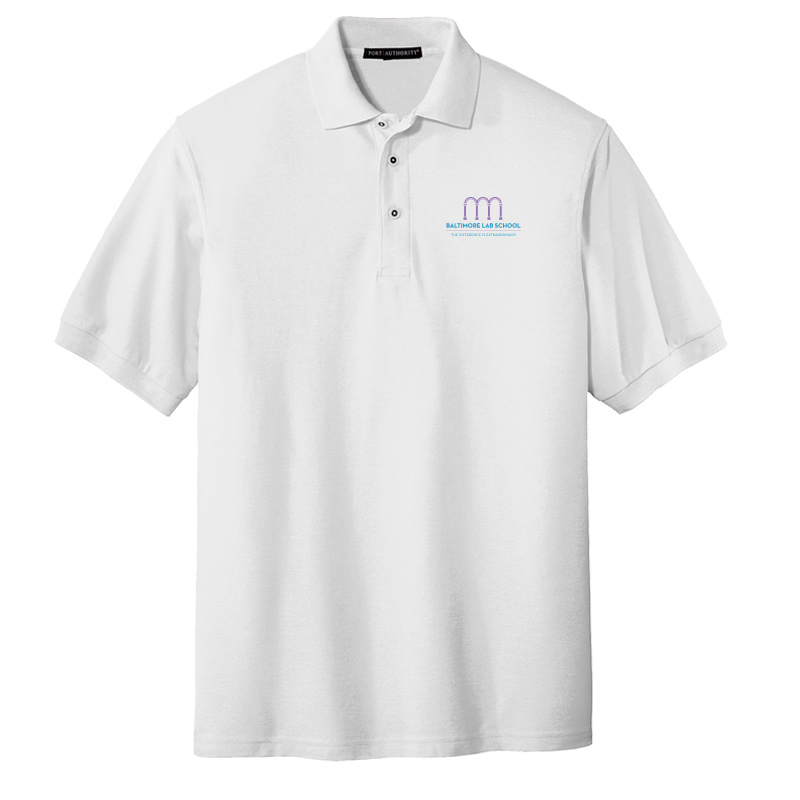 Baltimore Lab School UltraClub Cool & Dry Mesh Piqué Polo-White