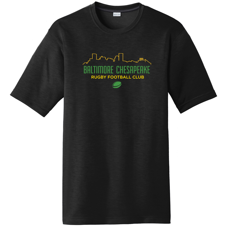 Baltimore Chesapeake Rugby  Skyline Posi Charge Competitor Cotton Touch Short Sleeve Tee :Black