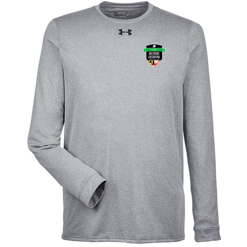 Baltimore Chesapeake Rugby  UA Mens Long Sleeve Locker Tee 2.0 :Black