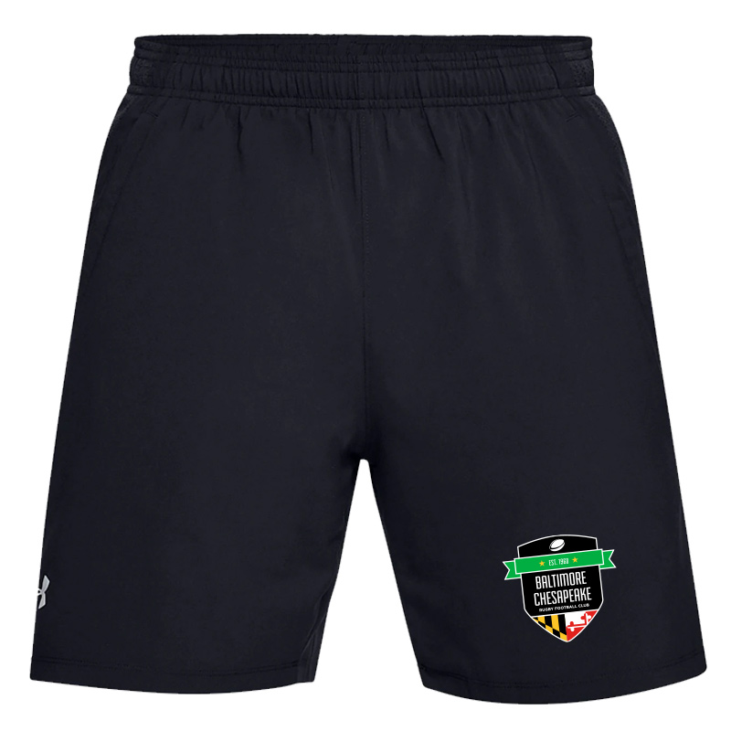 "Baltimore Chesapeake Rugby  UA launch SW 7"" Short with Pocket:Black"