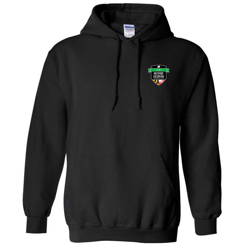 Baltimore Chesapeake Rugby  Gildan Heavy Blend Hooded Sweatshirt:Black