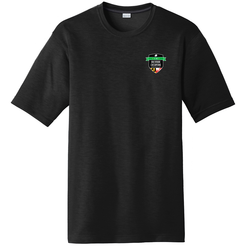 Baltimore Chesapeake Rugby  Sport Tek Posi Charge Competitor Cotton Touch Short Sleeve Tee :Black