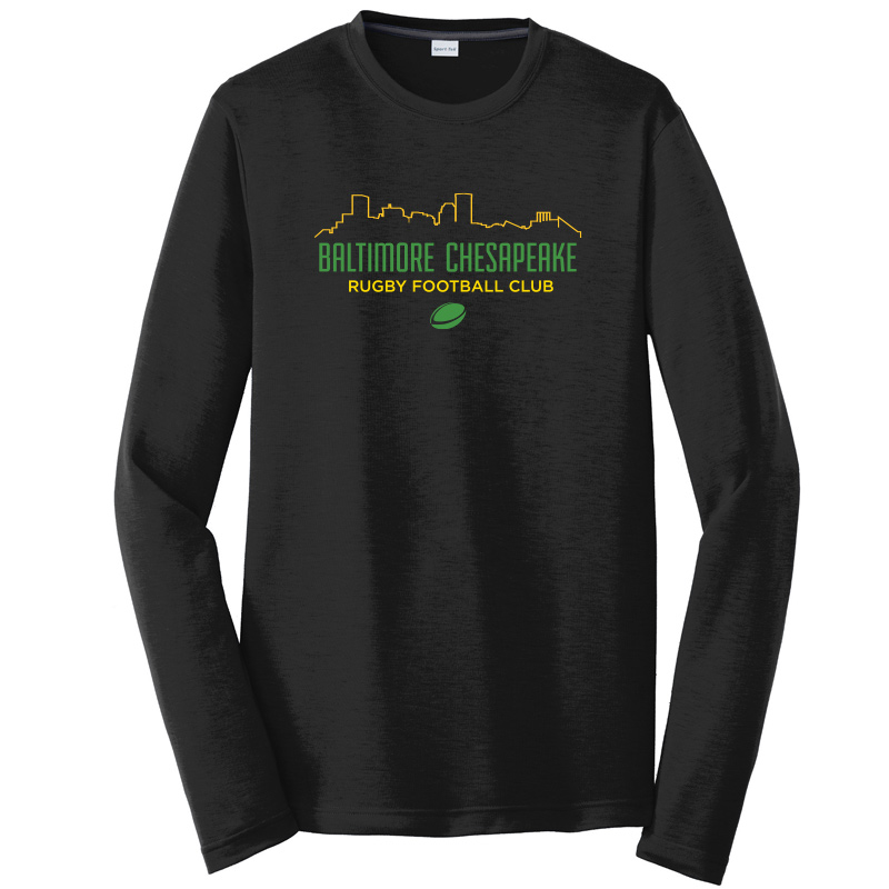 Baltimore Chesapeake Rugby  Skyline Competitor Cotton Touch Long Sleeve Tee :Black