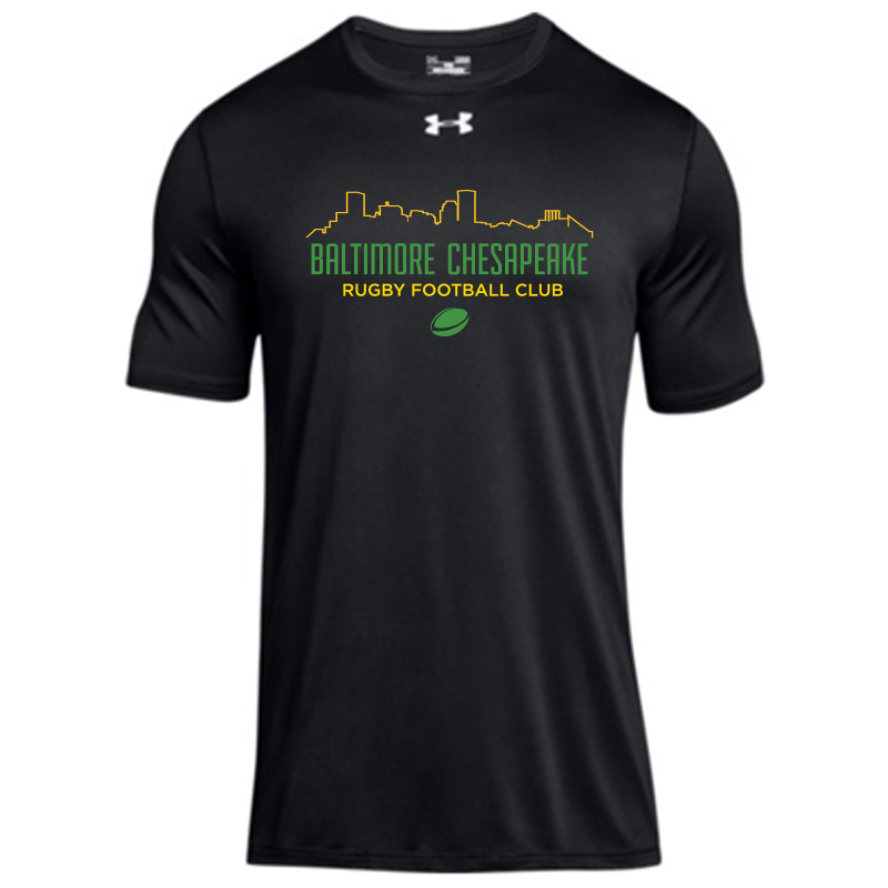 Baltimore Chesapeake Rugby Skyline UA Mens Long Sleeve Locker Tee 2.0 :Black