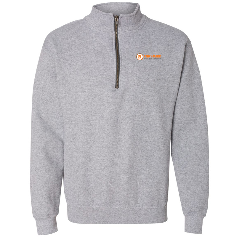 Benchmark 1/4 Zip Pullover Sweat Shirt - Sport Grey