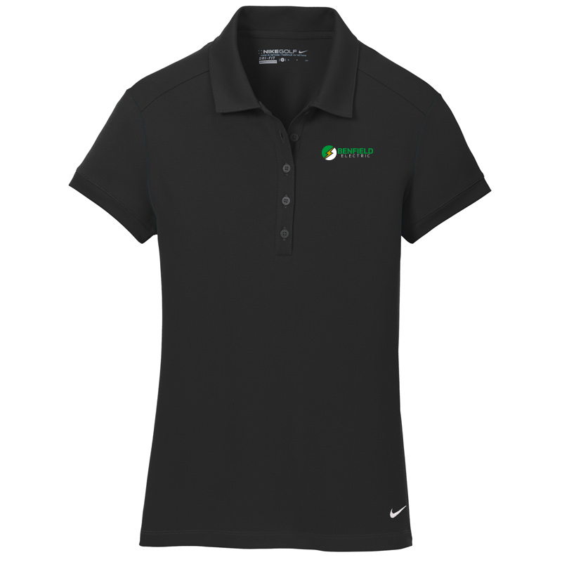 Benfield Electric Nike Golf – Ladies Dri-FIT Solid Icon Pique Modern Fit Polo -Black