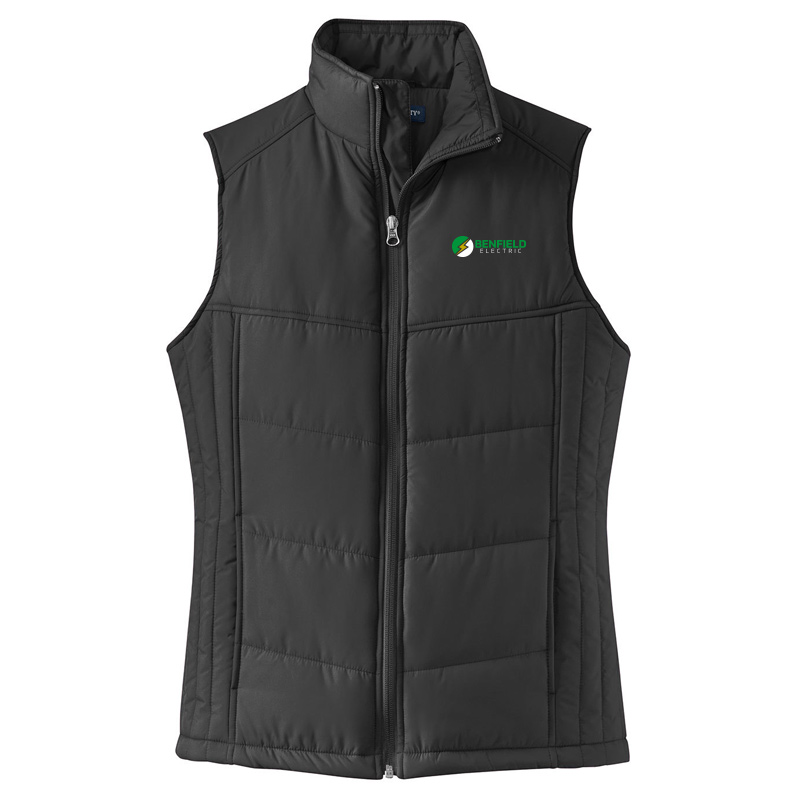 Benfield Electric Ladies Puffy Vest -Black