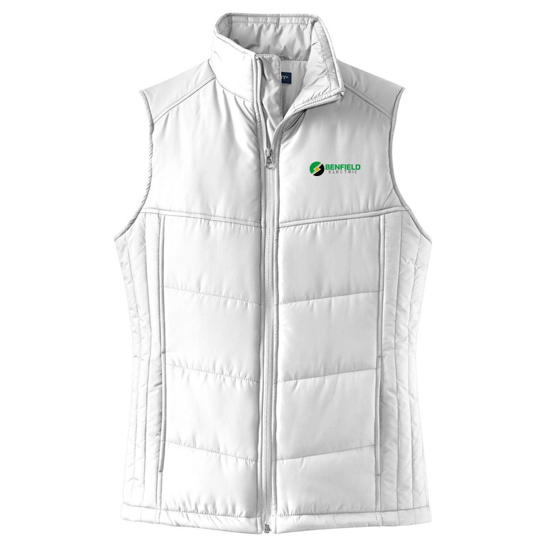 Benfield Electric Ladies Puffy Vest -White