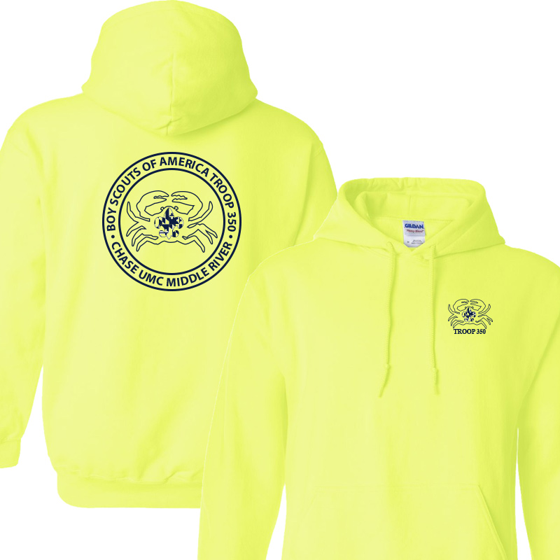 BSA 350 Hoodie - Safety Green