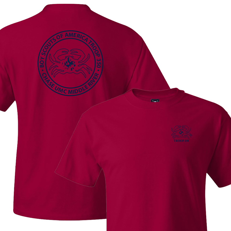 BSA 350 Short Sleeve T-Shirt - Deep Red