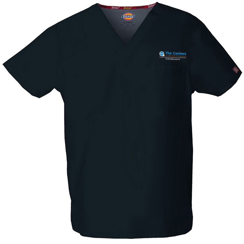 CAO OrthoMaryland Men's Scrub Top - Black