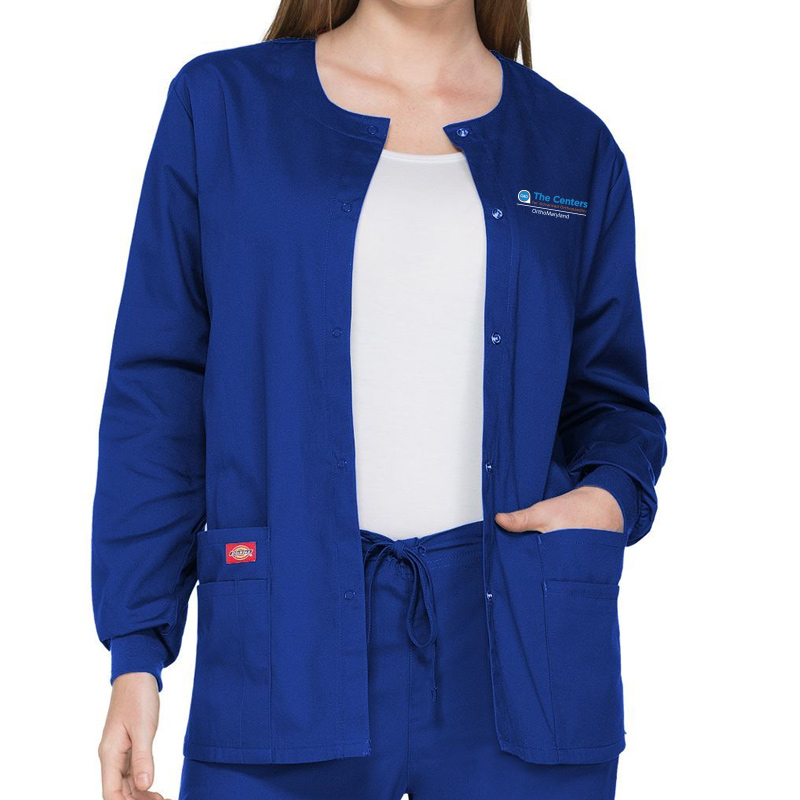 CAO OrthoMaryland Ladies Clinic Jacket (Dickies) - Royal Blue
