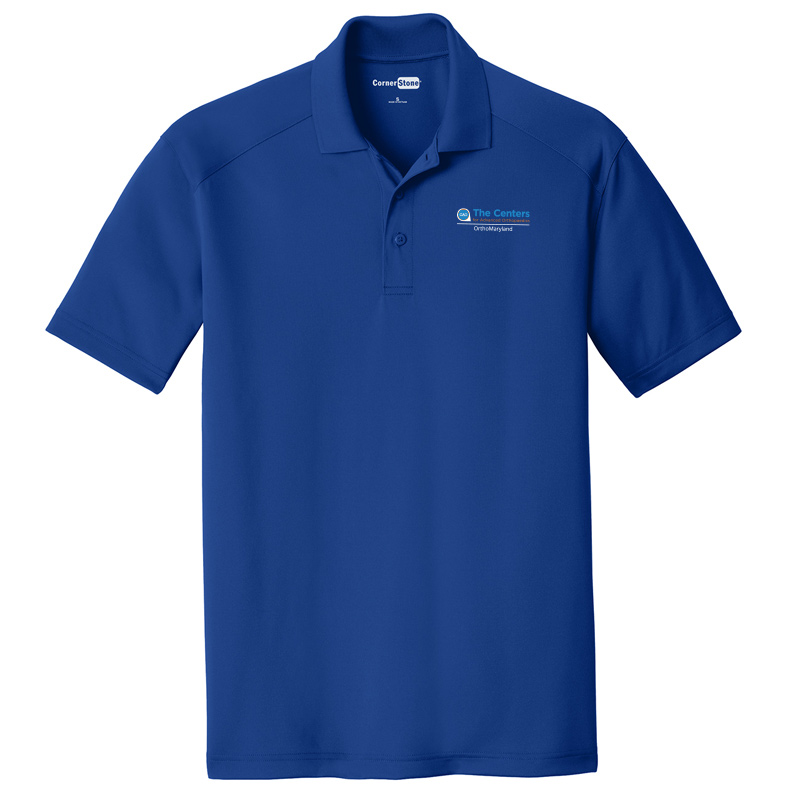 CAO OrthoMaryland Men's Performance Material Polo - Royal Blue