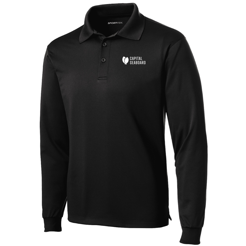 Capital Seaboard Diamond Jacquard Polo - Mens-Black