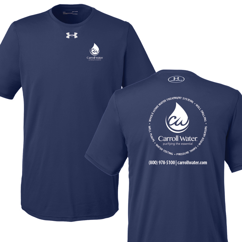 Carroll Water Under Armour Men's Performance Tees - Navy