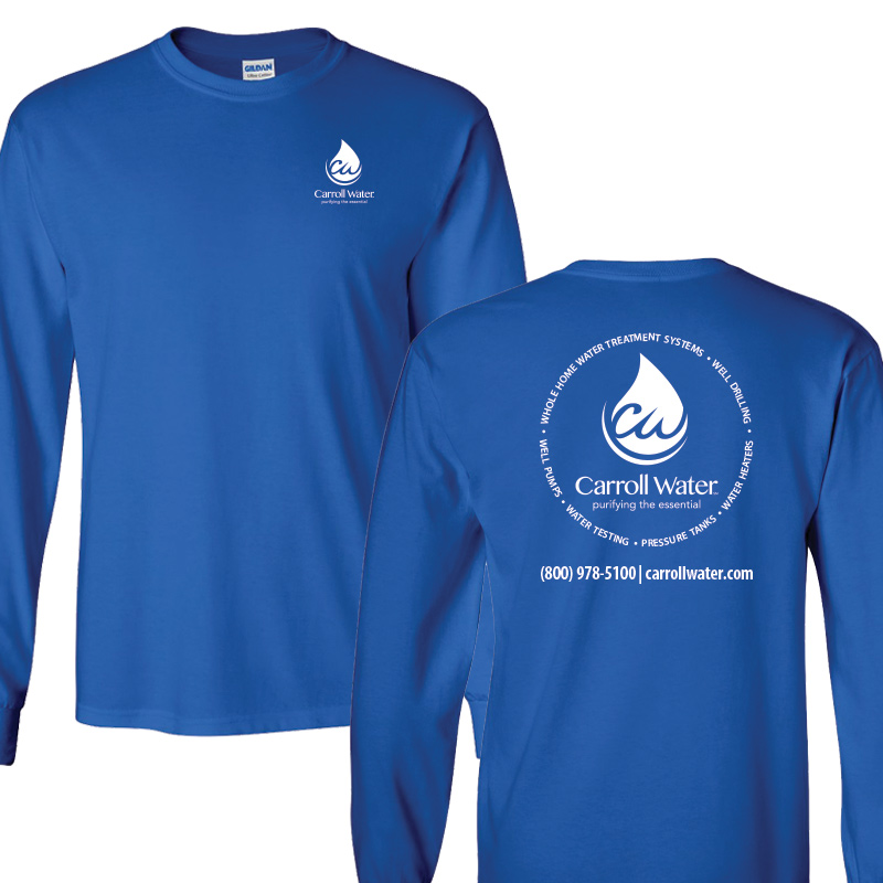 Carroll Water (Youth Colors) 100% Cotton Long Sleeve Tee - Royal