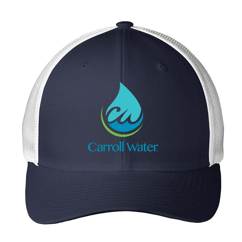 Carroll Water Port Authority® Flexfit® Mesh Back Cap - White/Navy