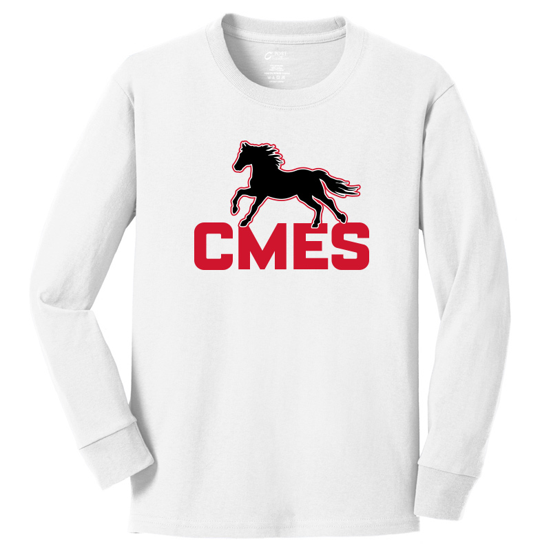 CMES  Long Sleeve Core Cotton Tee -White