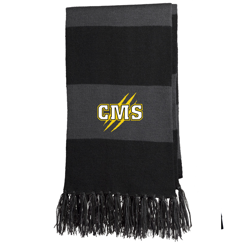 CMS TRI-COLOR DRAWSTRING BACKPACK - Gold/Black/White