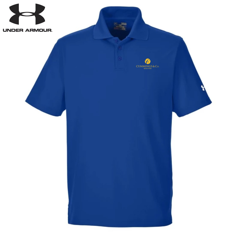 Cummings & Co Under Armour Men's Corp Performance Polo - Royal