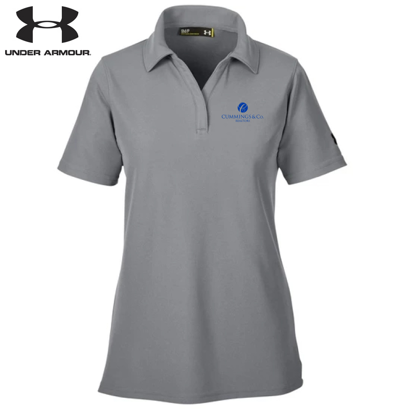 Cummings & Co Under Armour Ladies' Corp Performance Polo - Gray Heather