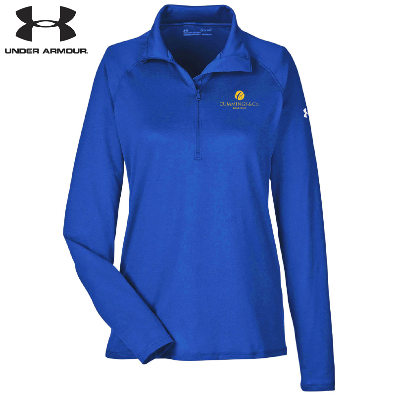 Cummings & Co Under Armour Ladies' UA Tech™ Quarter-Zip - Royal