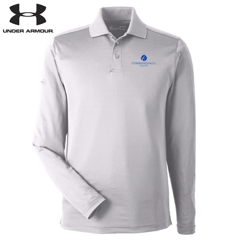 Cummings & Co Under Armour Mens Corporate Long-Sleeve Performance Polo - White