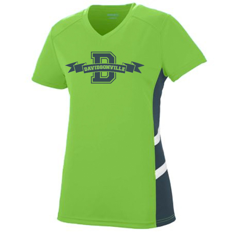 DES Banner Sleet wicking T Adult - Black & Lime