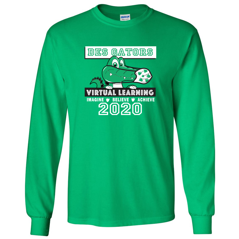 DE Virtual Cotton® Long Sleeve T-Shirt  - Kelly