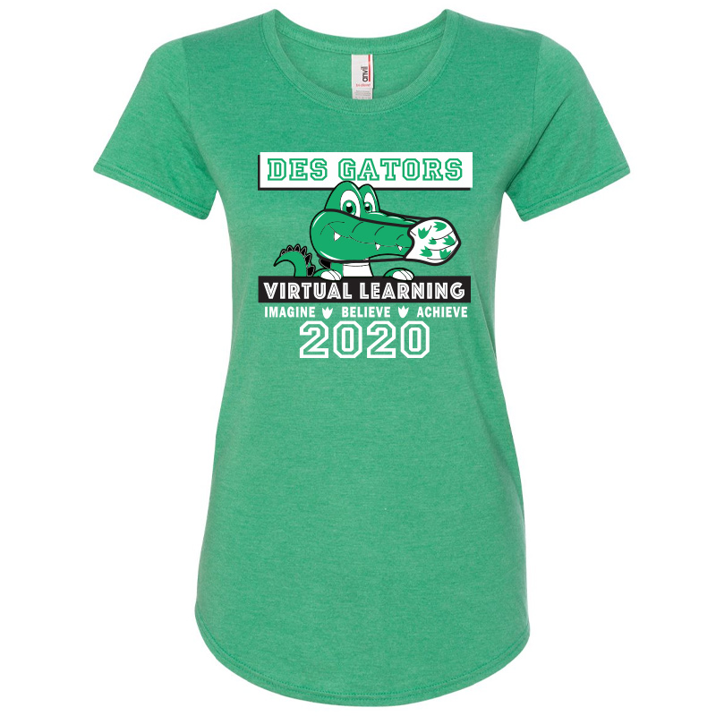 DE Virtual Ladies TriBlend T-Shirt - Heather Green