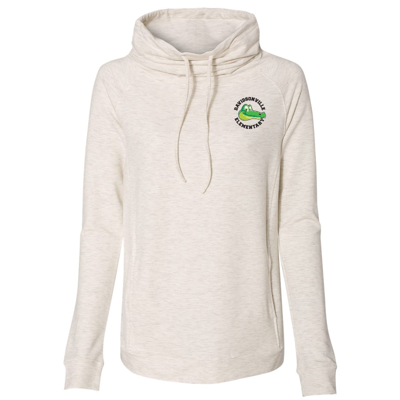 DES Gator Women's Heat Last Fleece Faux Cashmere Funnel Neck Sweatshirt - Oatmeal