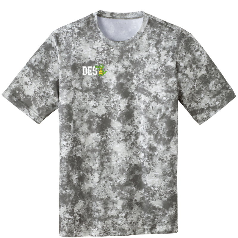 DES DES with Gator on Right Chest Mineral Freeze Tee-Dk Grey Smoke