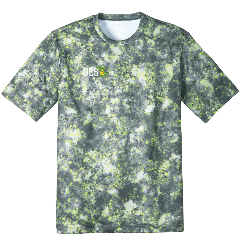 DES DES with Gator on Right Chest Mineral Freeze Tee-Lime Shock