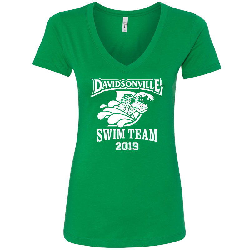 DES Swim Team Women's Ideal V - Green