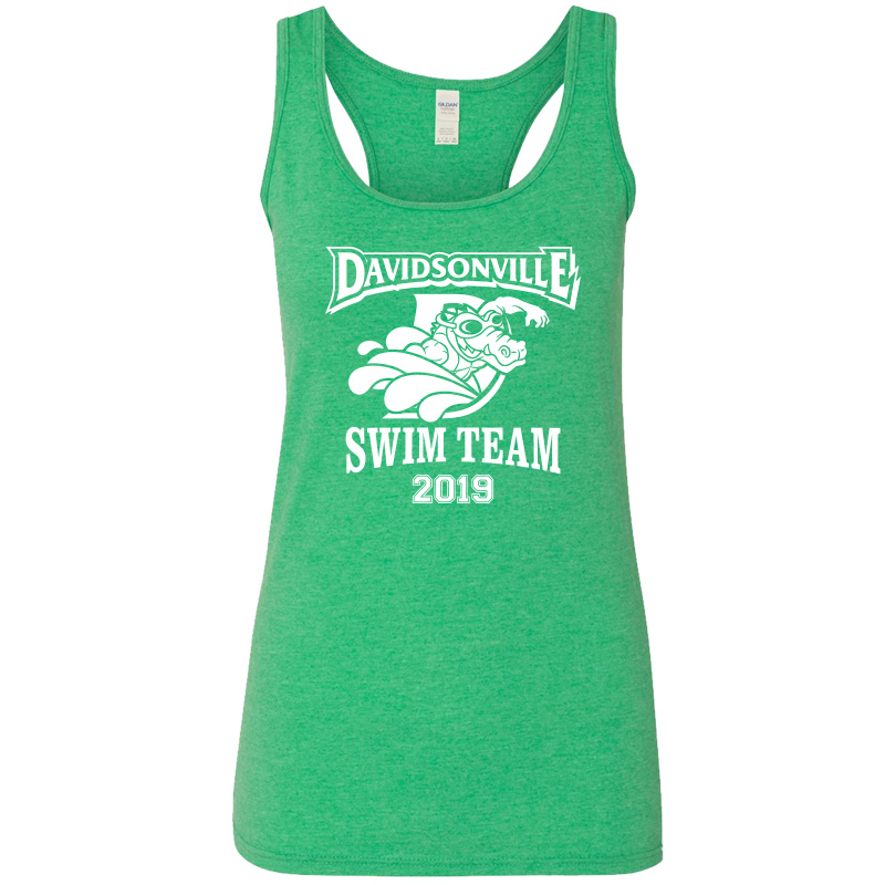 DES Swim Team Racerback Tank Top - Green