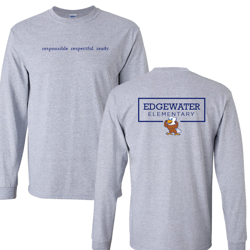 Edgewater  Three R's  Long Sleeve Tee  - Sport Grey