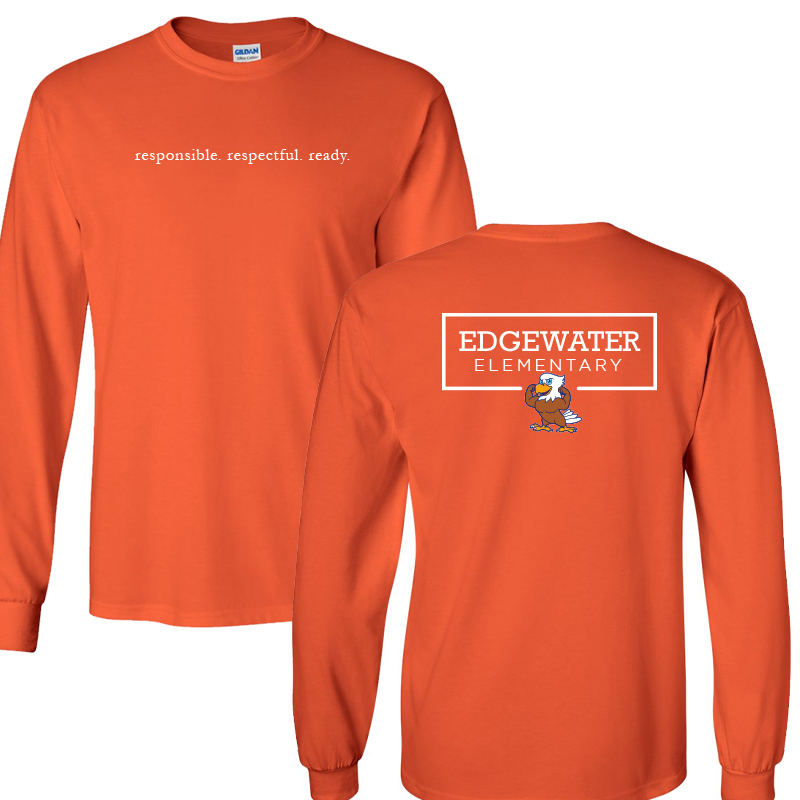 Edgewater  Three R's  Long Sleeve Tee  - Orange