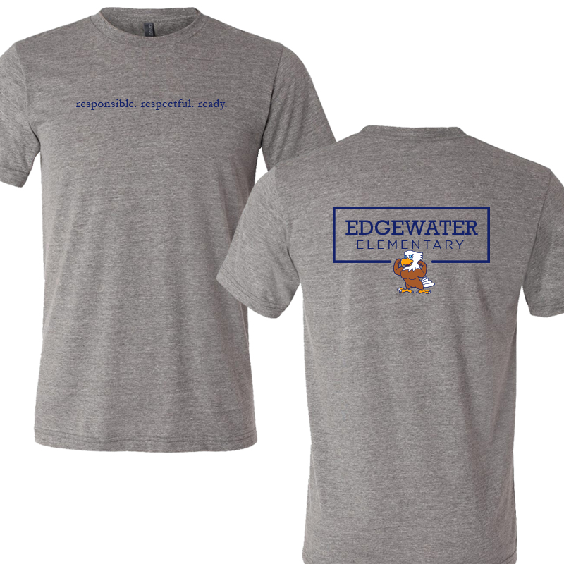 Edgewater  Three R's  Triblend Tee - Heather Grey