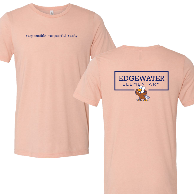 Edgewater  Three R's  Triblend Tee - Peach