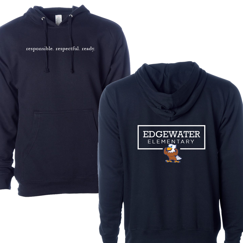 Edgewater  Three R's  Hoddie  - Navy