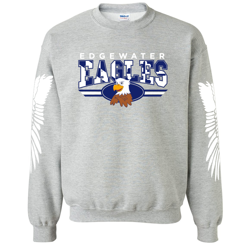 Edgewater  Eagles Crewneck Sweatshirt  - Navy