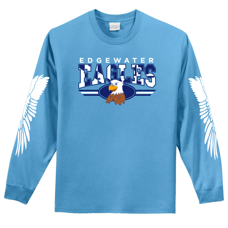 Edgewater  Eagles Long Sleeve Tee  - Carolina Blue
