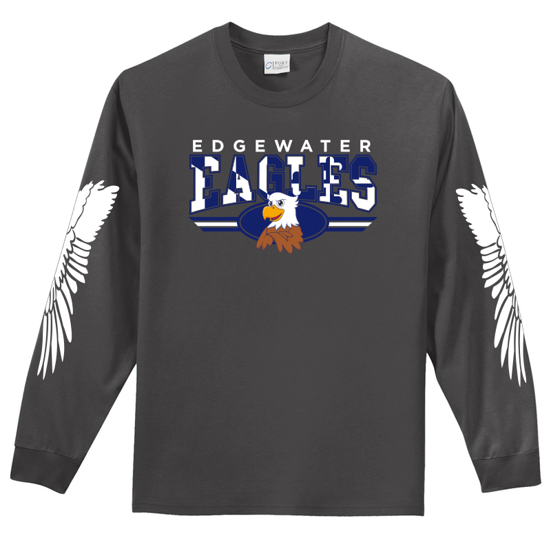 Edgewater  Eagles Long Sleeve Tee  - Charcoal