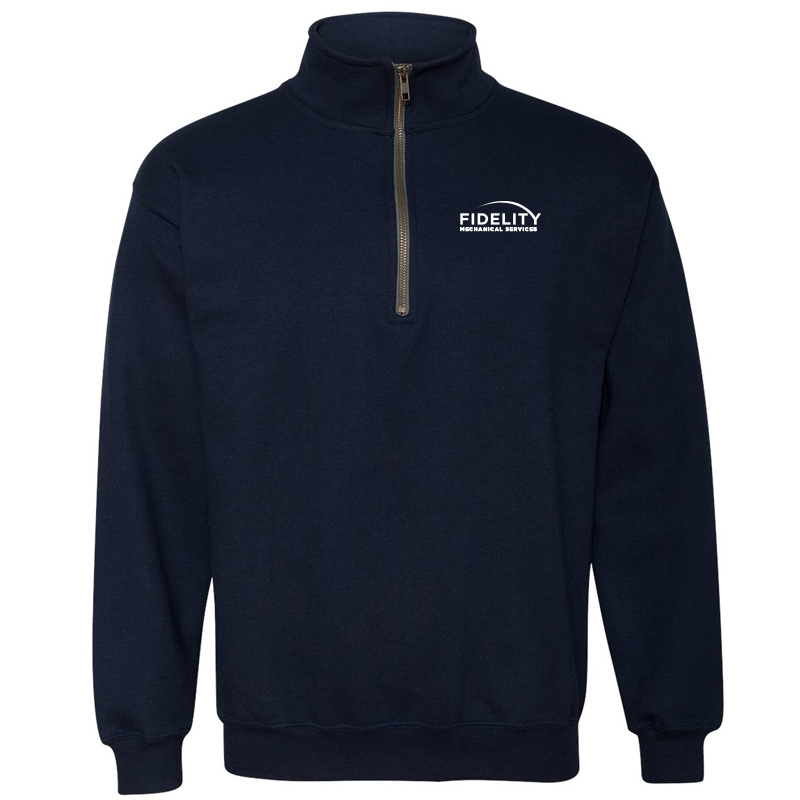 Fidelity Mechanical 1/4 Zip Pullover Sweat Shirt - Navy