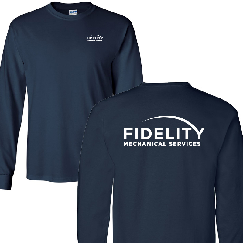Fidelity Mechanical Long Sleeve Tee - Navy